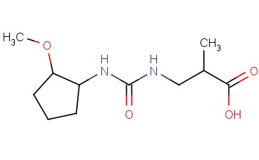 3-([(2-METHOXYCYCLOPENTYL)CARBAMOYL]AMINO)-2-METHYLPROPANOIC ACID