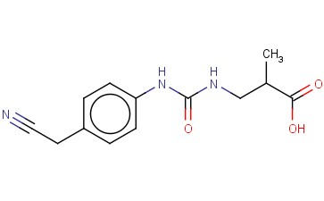 3-(([4-(CYANOMETHYL)PHENYL]CARBAMOYL)AMINO)-2-METHYLPROPANOIC ACID