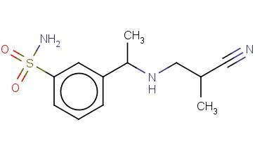 3-(1-[(2-CYANO-2-METHYLETHYL)AMINO]ETHYL)BENZENE-1-SULFONAMIDE