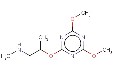(2-[(DIMETHOXY-1,3,5-TRIAZIN-2-YL)OXY]PROPYL)(METHYL)AMINE