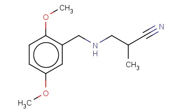 3-([(2,5-DIMETHOXYPHENYL)METHYL]AMINO)-2-METHYLPROPANENITRILE