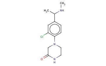 4-(2-CHLORO-4-[1-(METHYLAMINO)ETHYL]PHENYL)PIPERAZIN-2-ONE