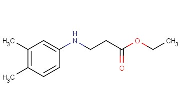 beta-Alanine, N-(3,4-dimethylphenyl)-, ethyl ester