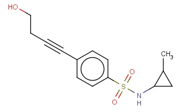 4-(4-HYDROXYBUT-1-YN-1-YL)-N-(2-METHYLCYCLOPROPYL)BENZENE-1-SULFONAMIDE