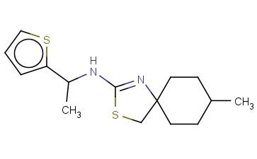 8-METHYL-N-[1-(THIOPHEN-2-YL)ETHYL]-3-THIA-1-AZASPIRO[4.5]DEC-1-EN-2-AMINE