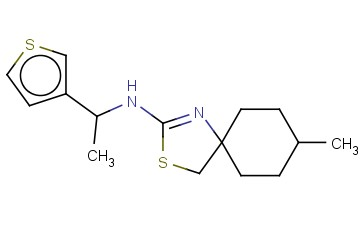 8-METHYL-N-[1-(THIOPHEN-3-YL)ETHYL]-3-THIA-1-AZASPIRO[4.5]DEC-1-EN-2-AMINE