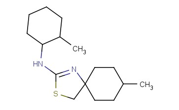8-METHYL-N-(2-METHYLCYCLOHEXYL)-3-THIA-1-AZASPIRO[4.5]DEC-1-EN-2-AMINE