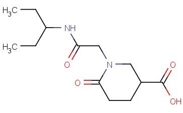 6-OXO-1-([(PENTAN-3-YL)CARBAMOYL]METHYL)PIPERIDINE-3-CARBOXYLIC ACID