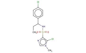 5-CHLORO-N-[1-(4-CHLOROPHENYL)PROPYL]-1-METHYL-1H-IMIDAZOLE-4-SULFONAMIDE
