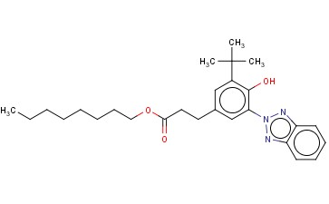 3-(2H-BENZOTRIAZOLYL)-5-(1,1-DI-METHYLETHYL)-4-HYDROXY-BENZENEPROPANOIC ACID OCTYL ESTERS