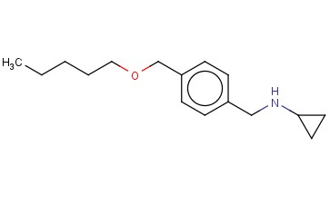 N-((4-[(PENTYLOXY)METHYL]PHENYL)METHYL)CYCLOPROPANAMINE