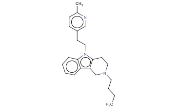 2,3,4,5-TETRAHYDRO-2-BUTYL-5-(2-(6-METHYL-3-PYRIDYL)ETHYL)-1H-PYRIDO(4,3-B)INDOLE