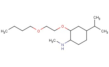 2-(2-BUTOXYETHOXY)-N-METHYL-4-(PROPAN-2-YL)CYCLOHEXAN-1-AMINE