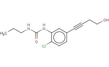 1-[2-CHLORO-5-(4-HYDROXYBUT-1-YN-1-YL)PHENYL]-3-PROPYLUREA