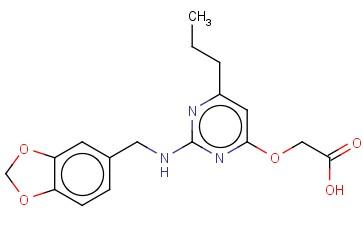 (2-[(BENZO[1,3]DIOXOL-5-YLMETHYL)-AMINO]-6-PROPYL-PYRIMIDIN-4-YLOXY)-ACETIC ACID