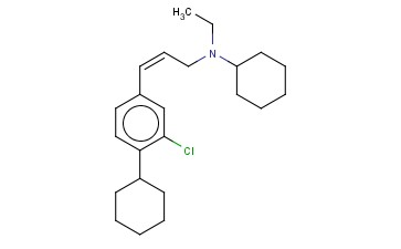 3-(3-CHLORO-4-CYCLOHEXYLPHENYL)-N-CYCLOHEXYL-N-ETHYL-2(Z)-PROPENYLAMINE