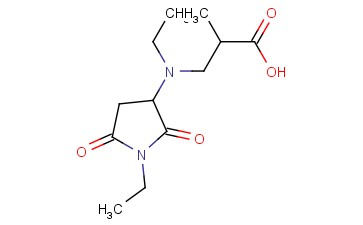 3-[ETHYL(1-ETHYL-2,5-DIOXOPYRROLIDIN-3-YL)AMINO]-2-METHYLPROPANOIC ACID