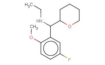 ETHYL[(5-FLUORO-2-METHOXYPHENYL)(OXAN-2-YL)METHYL]AMINE