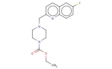 4-(6-FLUOROQUINOLIN-2-YLMETHYL)PIPERAZINE-1-CARBOXYLIC ACID ETHYL ESTER