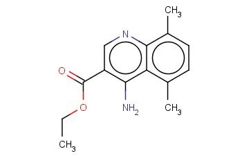 4-AMINO-5,8-DIMETHYLQUINOLINE-3-CARBOXYLIC ACID ETHYL ESTER