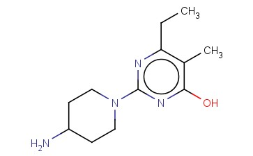 2-(4-AMINO-PIPERIDIN-1-YL)-6-ETHYL-5-METHYL-PYRIMIDIN-4-OL