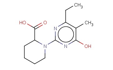 1-(4-ETHYL-6-HYDROXY-5-METHYL-PYRIMIDIN-2-YL)-PIPERIDINE-2-CARBOXYLIC ACID