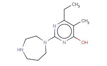 2-[1,4]DIAZEPAN-1-YL-6-ETHYL-5-METHYL-PYRIMIDIN-4-OL