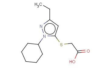 2-[(1-CYCLOHEXYL-3-ETHYL-1H-PYRAZOL-5-YL)SULFANYL]ACETIC ACID