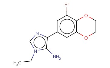 4-(8-BROMO-2,3-DIHYDRO-1,4-BENZODIOXIN-6-YL)-1-ETHYL-1H-IMIDAZOL-5-AMINE