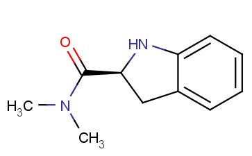 1H-<span class='lighter'>INDOLE</span>-2-CARBOXAMIDE, <span class='lighter'>2,3</span>-DIHYDRO-N,N-<span class='lighter'>DIMETHYL</span>-, (2S)-