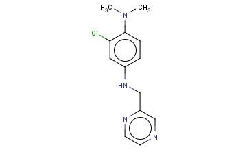 2-CHLORO-1-N,1-N-DIMETHYL-4-N-(PYRAZIN-2-YLMETHYL)BENZENE-1,4-DIAMINE