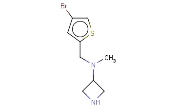 N-[(4-BROMOTHIOPHEN-2-YL)METHYL]-N-METHYLAZETIDIN-3-AMINE