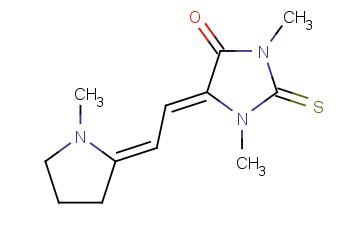 1,3-DIMETHYL-5-[(1-METHYL-2-PYRROLIDINYLIDENE)ETHYLIDENE]-2-THIOXO-4-IMIDAZOLIDINONE