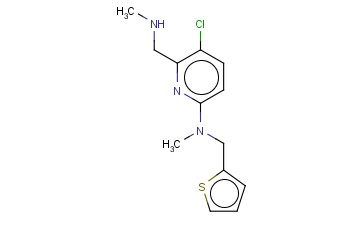 5-CHLORO-N-METHYL-6-[(METHYLAMINO)METHYL]-N-(THIOPHEN-2-YLMETHYL)PYRIDIN-2-AMINE