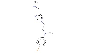 4-FLUORO-N-METHYL-N-(2-(4-[(METHYLAMINO)METHYL]-1H-1,2,3-TRIAZOL-1-YL)ETHYL)ANILINE