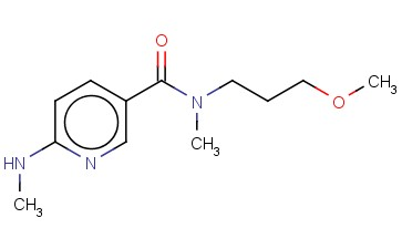 N-(3-METHOXYPROPYL)-N-METHYL-6-(METHYLAMINO)PYRIDINE-3-CARBOXAMIDE