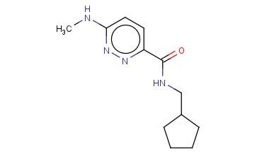 N-(CYCLOPENTYLMETHYL)-6-(METHYLAMINO)PYRIDAZINE-3-CARBOXAMIDE