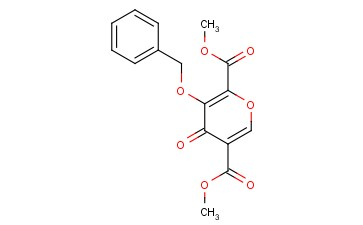 4-Oxo-3-(phenylMethoxy)-4H-pyran-2,5-dicarboxylic acid 2,5-diMethyl ester