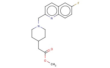 2-[1-(6-FLUOROQUINOLIN-2-YLMETHYL)PIPERIDIN-4-YL]ACETIC ACID METHYL ESTER