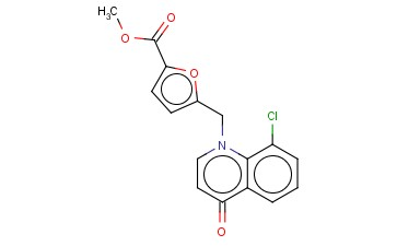 5-(8-CHLORO-4-OXO-4H-QUINOLIN-1-YLMETHYL)-FURAN-2-CARBOXYLIC ACID METHYL ESTER