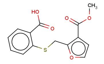 2-(([3-(METHOXYCARBONYL)FURAN-2-YL]METHYL)SULFANYL)BENZOIC ACID