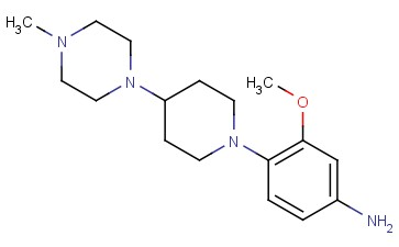 3-METHOXY-4-(4-(4-METHYLPIPERAZIN-1-<span class='lighter'>YL</span>)<span class='lighter'>PIPERIDIN-1-YL</span>)ANILINE
