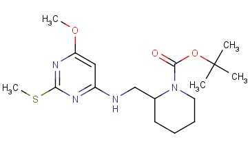 tert-Butyl 2-(((6-methoxy-2-(methylthio)pyrimidin-4-yl)amino)methyl)piperidine-1-carboxylate