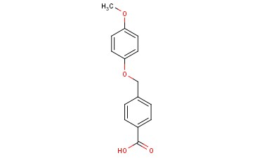 <span class='lighter'>BENZOIC</span> ACID, 4-[(4-<span class='lighter'>METHOXYPHENOXY</span>)METHYL]-