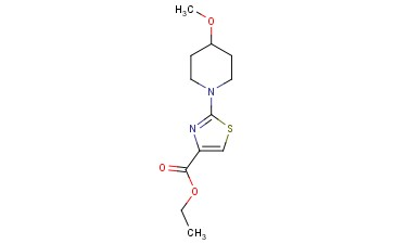 4-<span class='lighter'>THIAZOLECARBOXYLIC</span> ACID, 2-(4-METHOXY-1-PIPERIDINYL)-, ETHYL <span class='lighter'>ESTER</span>