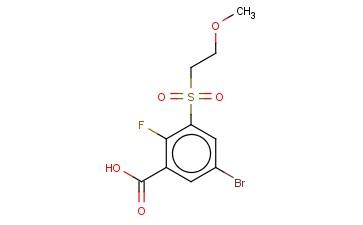 5-BROMO-2-FLUORO-3-(2-METHOXYETHANESULFONYL)BENZOIC ACID
