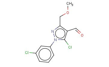5-CHLORO-1-(3-CHLOROPHENYL)-3-(METHOXYMETHYL)-1H-PYRAZOLE-4-CARBALDEHYDE