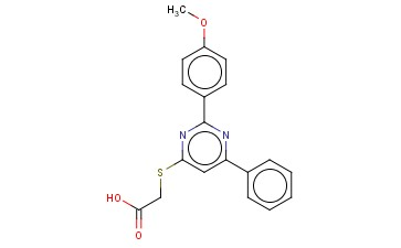 [2-(4-METHOXY-PHENYL)-6-PHENYL-PYRIMIDIN-4-YLSULFANYL]-ACETIC ACID