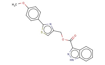 1H-INDAZOLE-3-CARBOXYLIC ACID, [2-(4-METHOXYPHENYL)-4-THIAZOLYL]METHYL ESTER