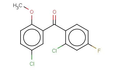 (5-CHLORO-2-METHOXYPHENYL)(2-CHLORO-4-FLUOROPHENYL)METHANONE